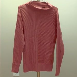 Banana Republic mock turtle neck pink sweater